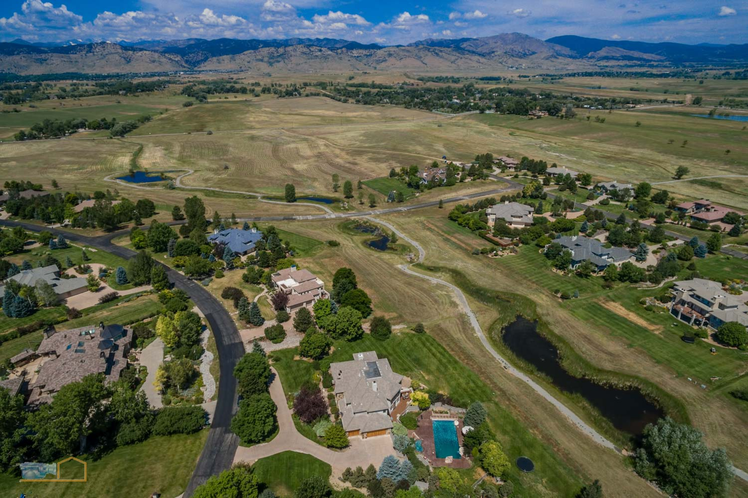 Real Estate Aerial Photos Boulder Neighborhood and Foothills