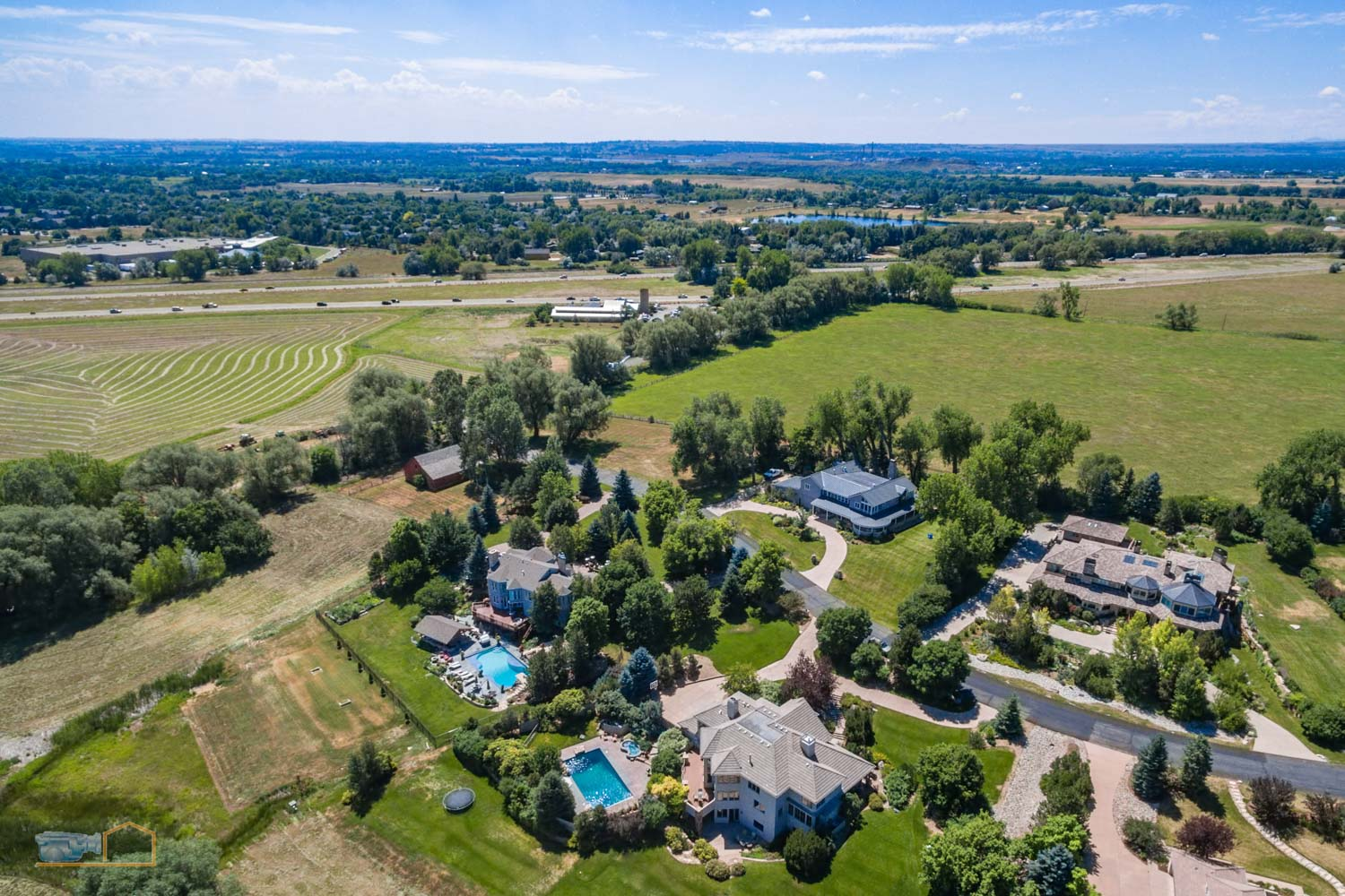 Real Estate Aerial Photos Boulder Neighborhood and Plains