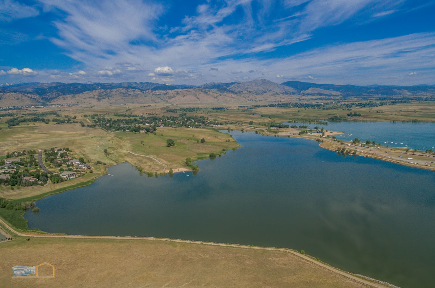 Real Estate Aerial Photos Boulder Lake and Foothills