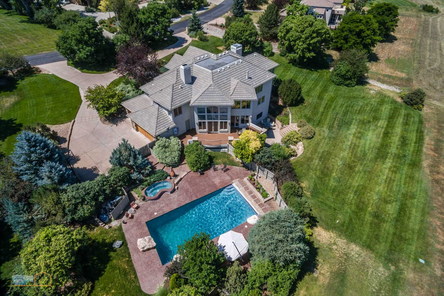 Real Estate Aerial Photos Boulder Neighborhood